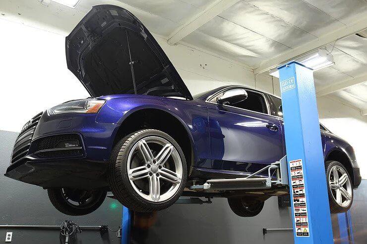 2013 Audi S4 034 Motorsport Billet Aluminum Transmission Mount Insert Installation