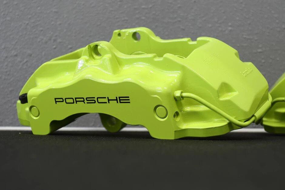 2005 Porsche Cayenne S Custom Painted Acid Green Brake Calipers